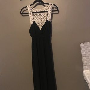 Beautiful black maxi dress with lace back detail